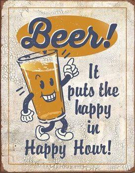 Plechová cedule Happy Hour - Beer