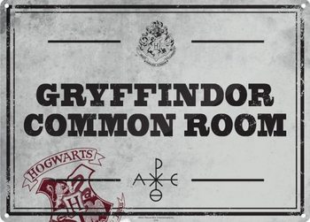 Plechová ceduľa  Harry Potter - Common Room
