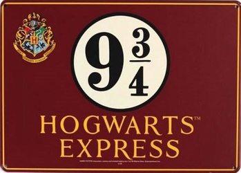 Plechová ceduľa Harry Potter - Hogwarts Express