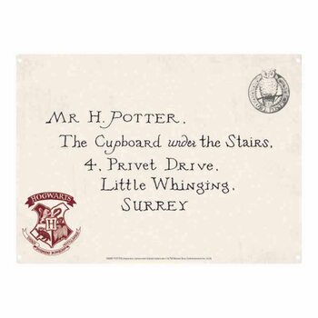 Plechová ceduľa Harry Potter - Letters