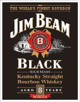 Plechová ceduľa JIM BEAM - Black Label