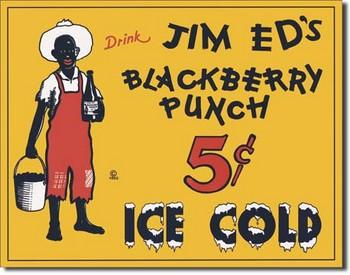 Plechová cedule JIM ED'S BLACKBERRY PUNCH