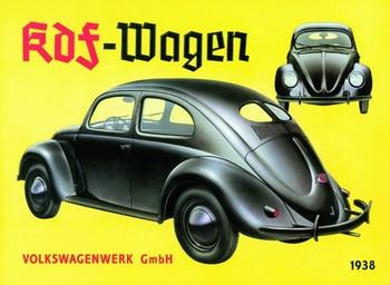 Plechová cedule KDF VOLKSWAGENWERK 1938