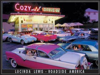 Plechová cedule Lewis - Cozy Drive In