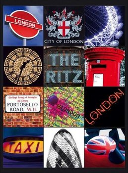 Plechová ceduľa LONDON COLLAGE 2