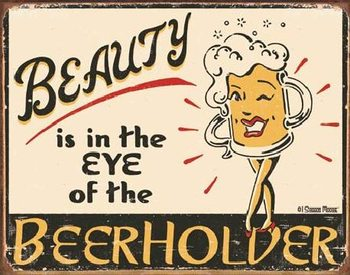 Plechová ceduľa  MOORE - Eye of the Beerholder