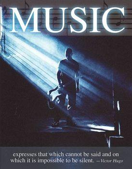 Plechová ceduľa Music - Victor Hugo