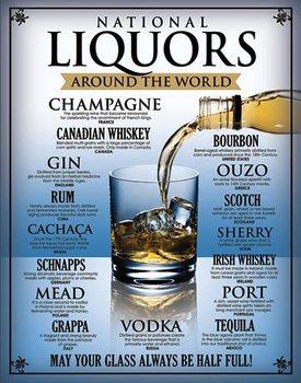 Plechová ceduľa National Liquors