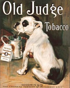 Plechová cedule Old Judge Tobacco