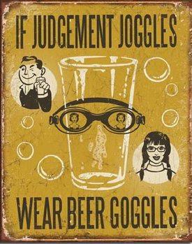 Plechová cedule PIVO - If Judgement Joggles