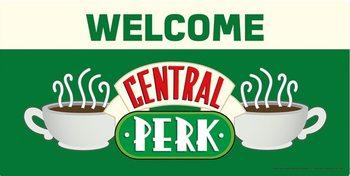Plechová cedule Přátelé - Welcome to Central Perk