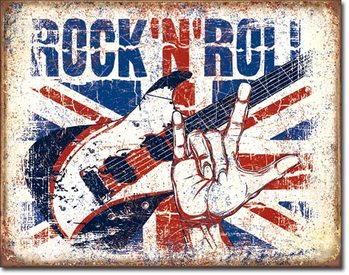 Plechová cedule Rock n Roll