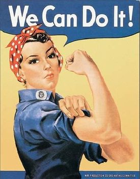 Plechová cedule ROSIE THE RIVETOR - we can do it
