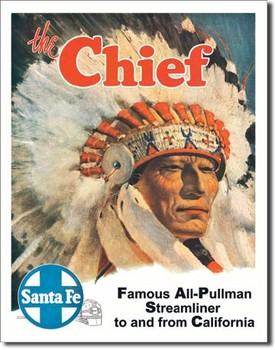 Plechová cedule SANTA FE - the chief