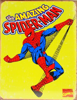 Plechová cedule SPIDER-MAN - vintage