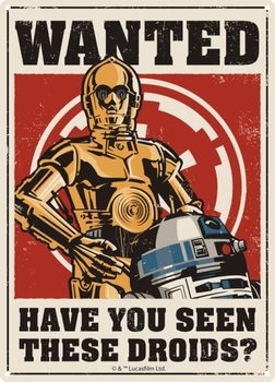 Plechová cedule  Star Wars - Droids