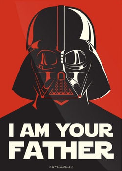Plechová cedule  Star Wars - I Am Your Father