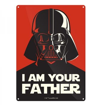Plechová ceduľa  Star Wars - I Am Your Father