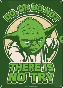 Plechová cedule  Star Wars - Yoda Try