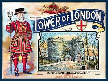Plechová cedule TOWER OF LONDON