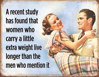 Plechová cedule Women Live Longer