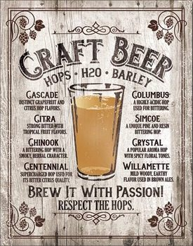 Plechová ceduľa Brew It - Passion