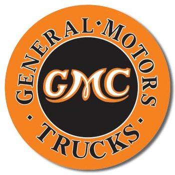 Plechová ceduľa GMC Trucks Round