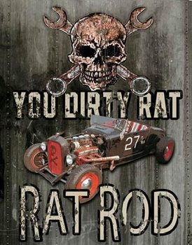 Plechová ceduľa LEGENDS - dirty rat