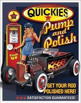 Plechová ceduľa QUICKIES - Pump & Polish