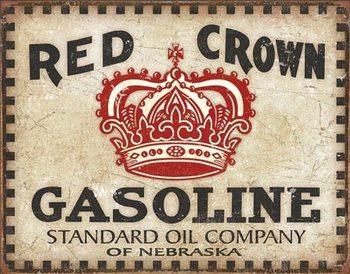 Plechová ceduľa Red Crown - Checker