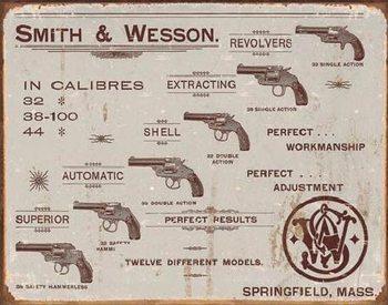 Plechová cedule S&W - revolvers