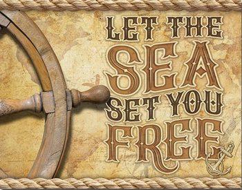 Plechová ceduľa Sea - Set You Free