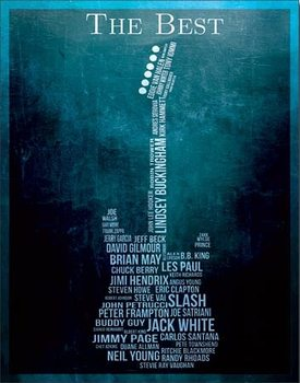 Plechová ceduľa The Best - Guitarists