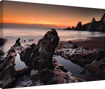 David Clapp - Westcombe Bay, Devon Obraz na płótnie