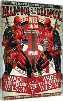 Deadpool - Wade vs Wade Obraz na płótnie