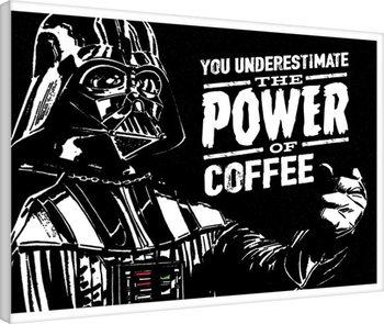 Gwiezdne wojny - The Power Of Coffe Obraz na płótnie