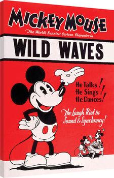 Myszka Miki (Mickey Mouse) - Wild Waves Obraz na płótnie