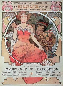 Obraz na płótnie A Poster for the World Fair, St. Louis, United States, 1904