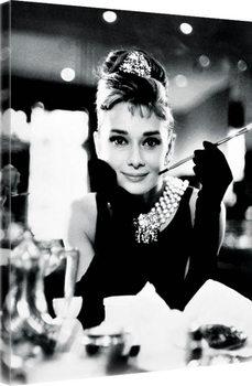 Obraz na płótnie Audrey Hepburn - Breakfast at Tiffany's B&W