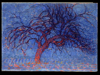 Obraz na płótnie Avond (Evening): The Red Tree, 1908-10