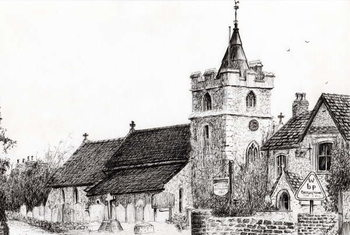 Obraz na płótnie Brighstone Church I.O.W., 2008,