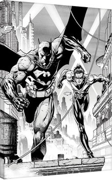 Obraz na płótnie DC Comics - Batman & Nightwing