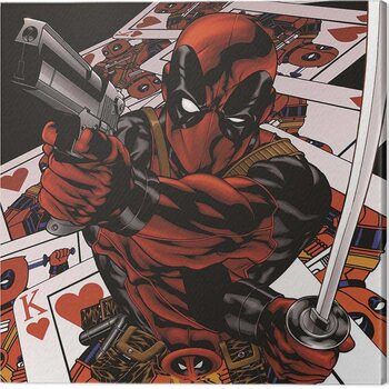 Obraz na płótnie Deadpool - Cards