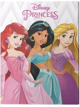 Obraz na płótnie Disney Princess - Ariel, Jasmine and Rapunzel