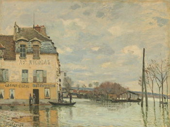 Obraz na płótnie Flood at Port-Marly, 1872