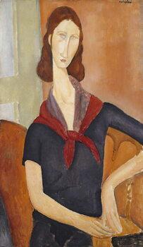 Obraz na płótnie Jeanne Hebuterne (with a Scarf) 1919