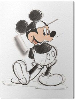 Obraz na płótnie Mickey Mouse - Torn Sketch