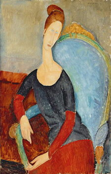Obraz na płótnie Mme Hebuterne in a Blue Chair