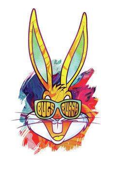 Obraz na płótnie Reggae Bugs Bunny