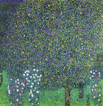 Obraz na płótnie Roses under the Trees, c.1905